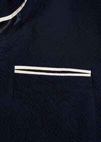 Navy Tonal Seersucker Soft Jacket, thumbnail 3