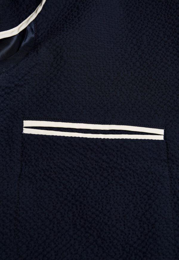 Navy Tonal Seersucker Soft Jacket, image 3