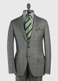 Wool Windowpane Suit, thumbnail 3