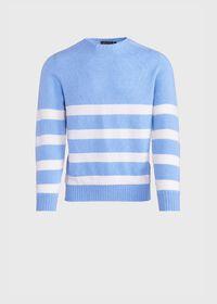 Crew Neck Stripe Sweater, thumbnail 1