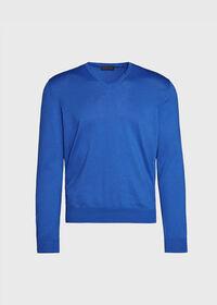 Cotton V-Neck Sweater, thumbnail 1