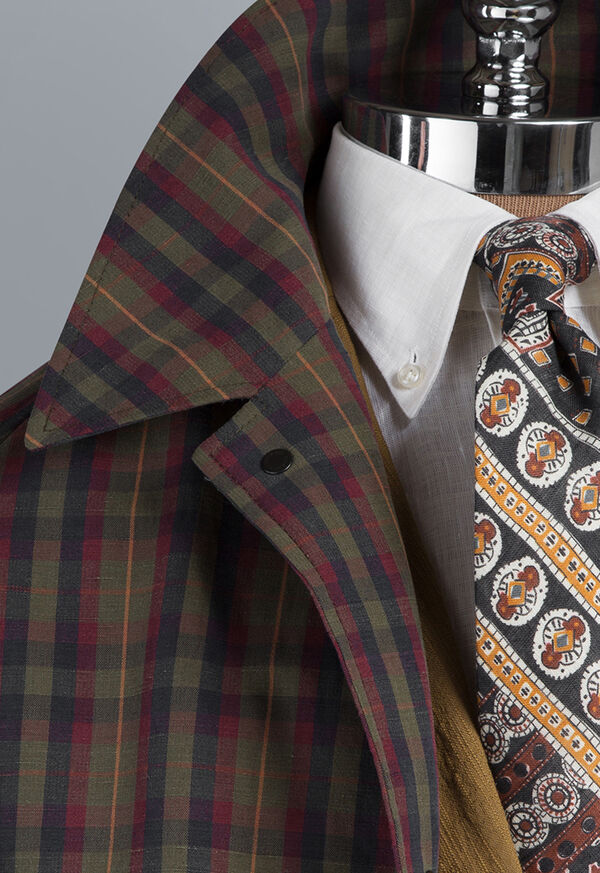Plaid Trench Coat, image 6