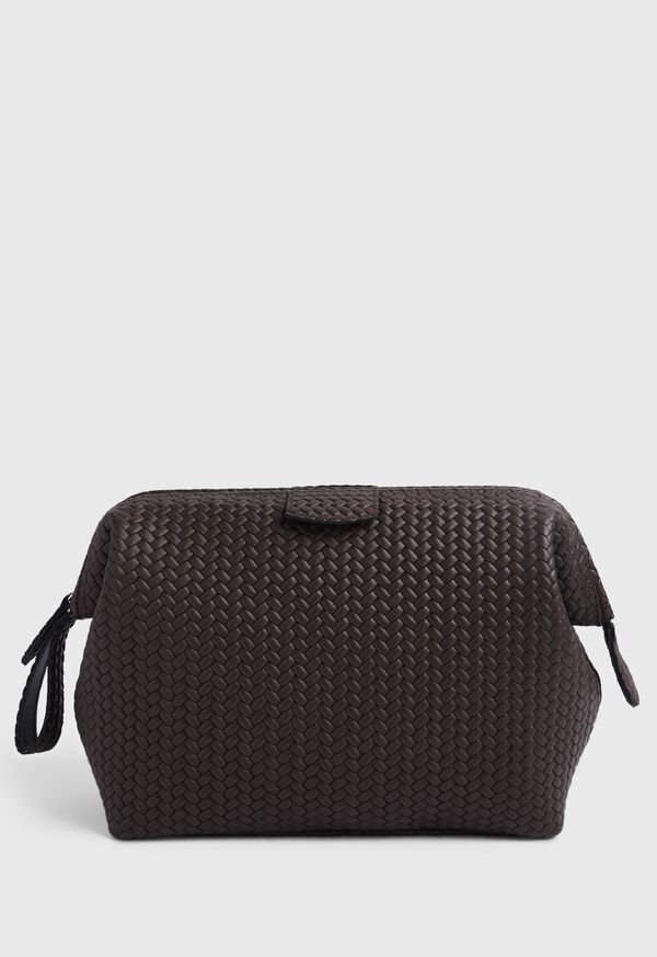Woven Leather Dopp Kit, image 4