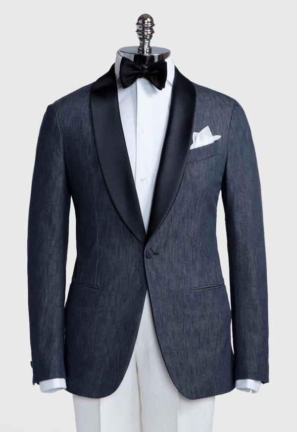 Denim Single Breasted Formal Jacket, image 2