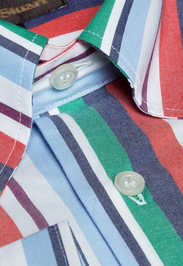 Cotton Multi Stripe Sport Shirt, image 2