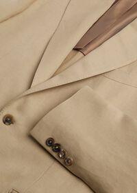 Tan Linen Blend Suit, thumbnail 3