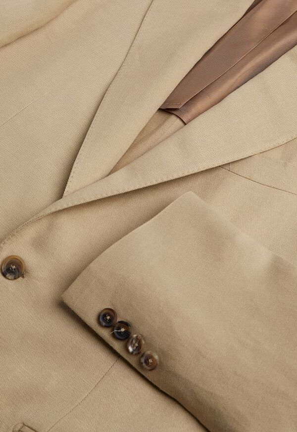 Tan Linen Blend Suit, image 3