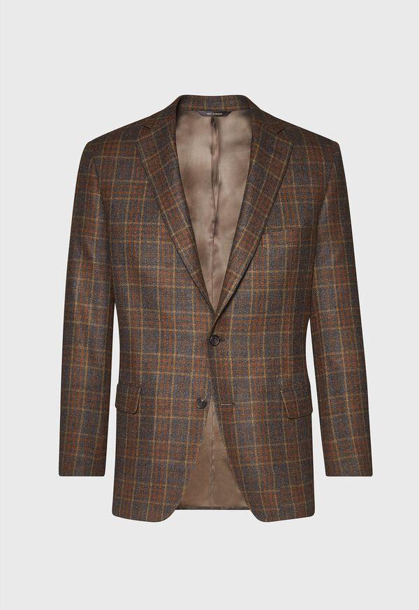 Brown Plaid Sport Jacket, image 1