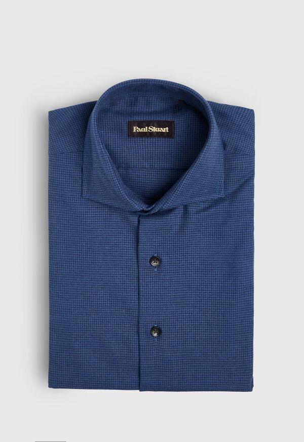 Houndstooth Brushed Flannel Sport Shirt, image 1
