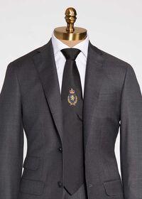 Crest Motif Silk Tie, thumbnail 1