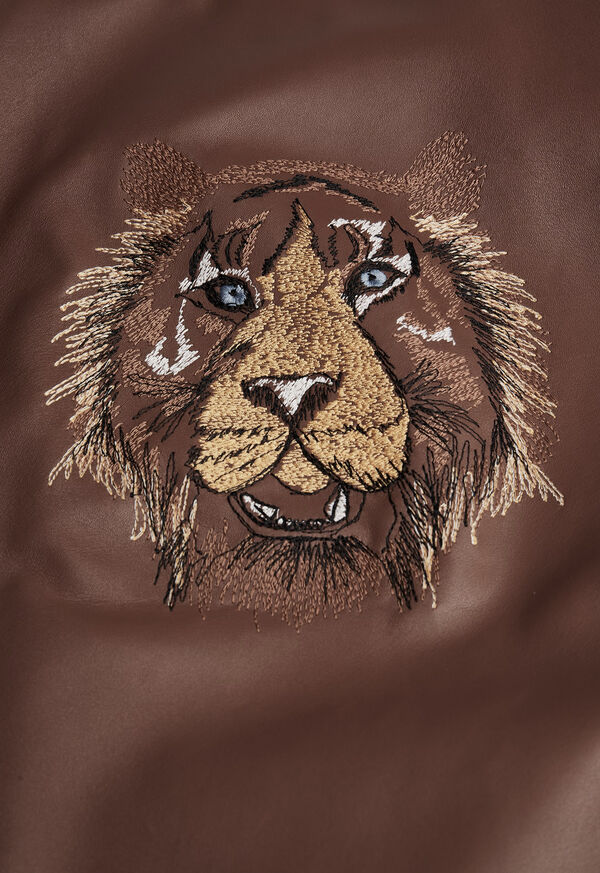 Leather Embroidered Motorcycle Jacket, image 3
