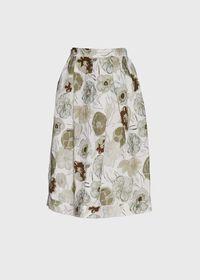 Printed Floral Flared Skirt, thumbnail 1