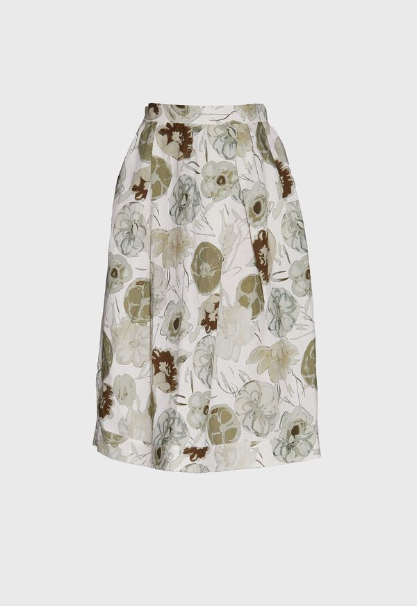 Printed Floral Flared Skirt, image 1