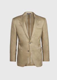 Paul Fit Solid Khaki Sport Jacket, thumbnail 1