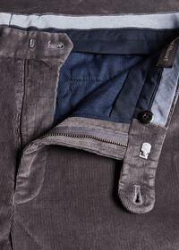 Supima Pin Cord Plain Front Trouser, thumbnail 2