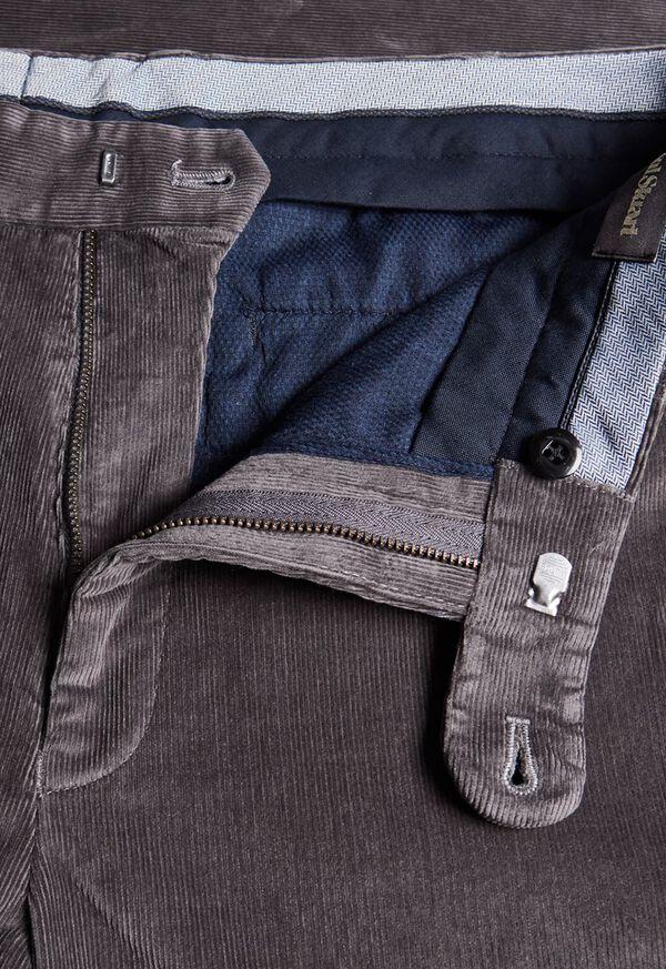 Supima Pin Cord Plain Front Trouser, image 2