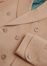 Camel Hair Double Breasted Short Coat, thumbnail 2