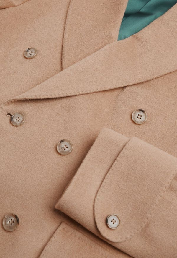 Camel Hair Double Breasted Short Coat, image 2