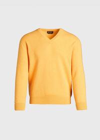 Scottish Cashmere V-Neck Sweater, thumbnail 9