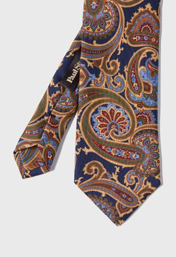 Paisley Madder Print Silk Tie, image 1