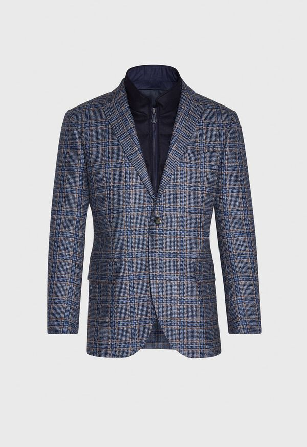 Plaid Travel Jacket and Built-in Vest, image 1