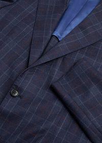 Navy Plaid Wool Suit, thumbnail 2