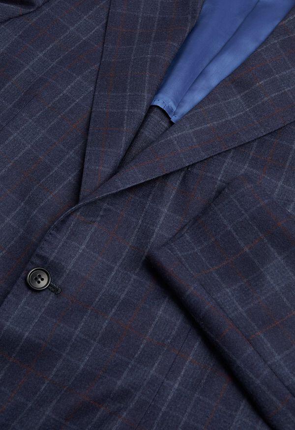 Navy Plaid Wool Suit, image 2