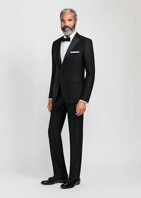 Black Italian Wool Tuxedo, thumbnail 1