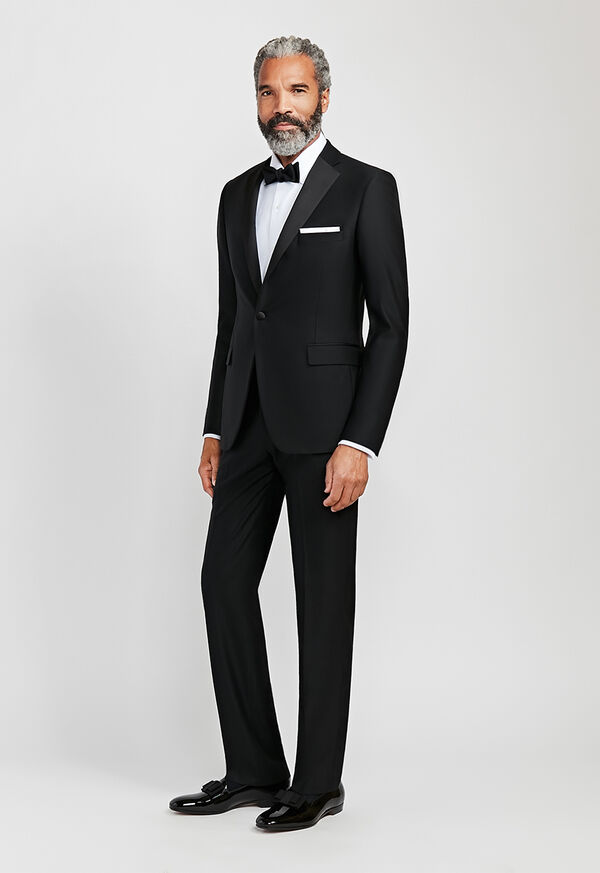 Black Italian Wool Tuxedo, image 1