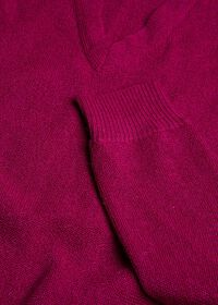 Classic Alpaca Links V-Neck Sweater, thumbnail 2