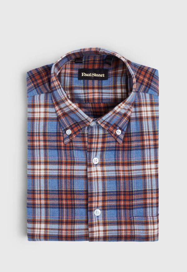 Plaid Brushed Flannel Sport Shirt, image 1