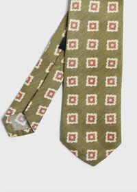 Printed Deco Square Medallion Tie, thumbnail 1