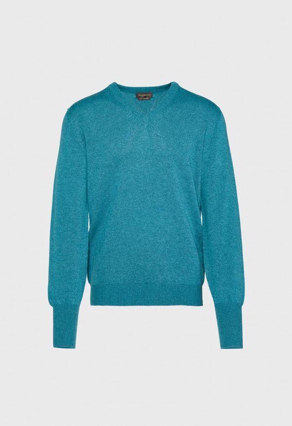 Scottish Cashmere V-Neck Sweater, image 15