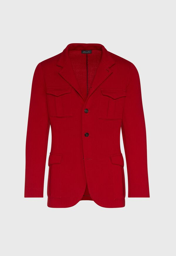 Red Cashmere Military Jacket, image 1