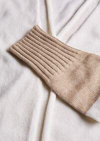 Wool Blend Long Bicolor Cardigan, thumbnail 2