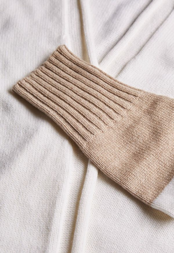 Wool Blend Long Bicolor Cardigan, image 2