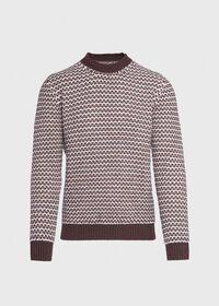 Brown Fancy Weave Sweater, thumbnail 1