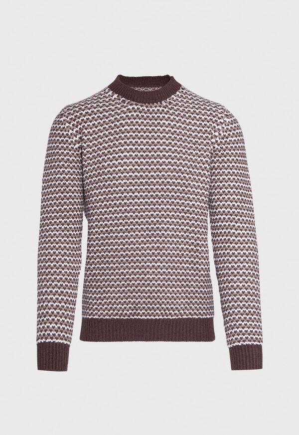 Brown Fancy Weave Sweater, image 1