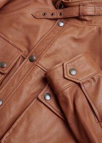 Solid Brown Napa Shirt Jacket, thumbnail 2