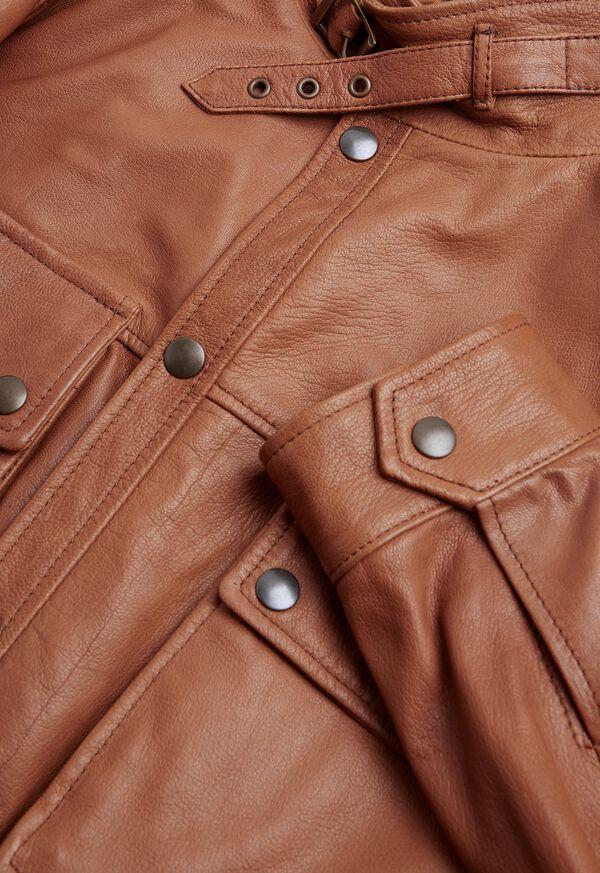 Solid Brown Napa Shirt Jacket, image 2