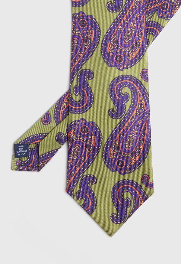 Paisley Print Silk Tie, image 1
