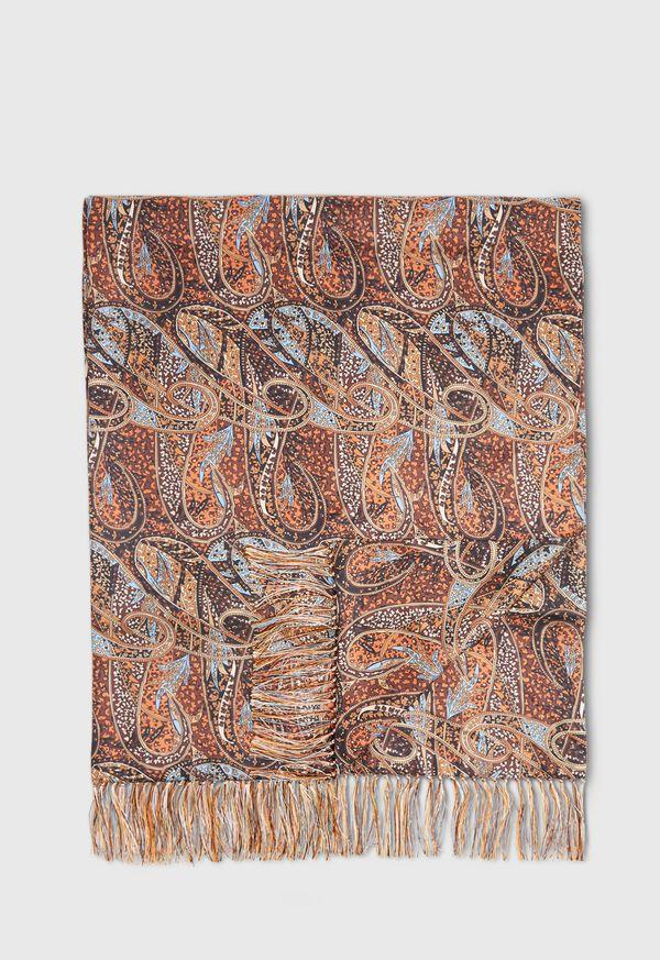 Master Paisley Print Silk Scarf, image 1