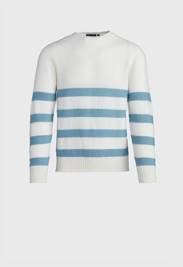 Crew Neck Stripe Sweater, image 1