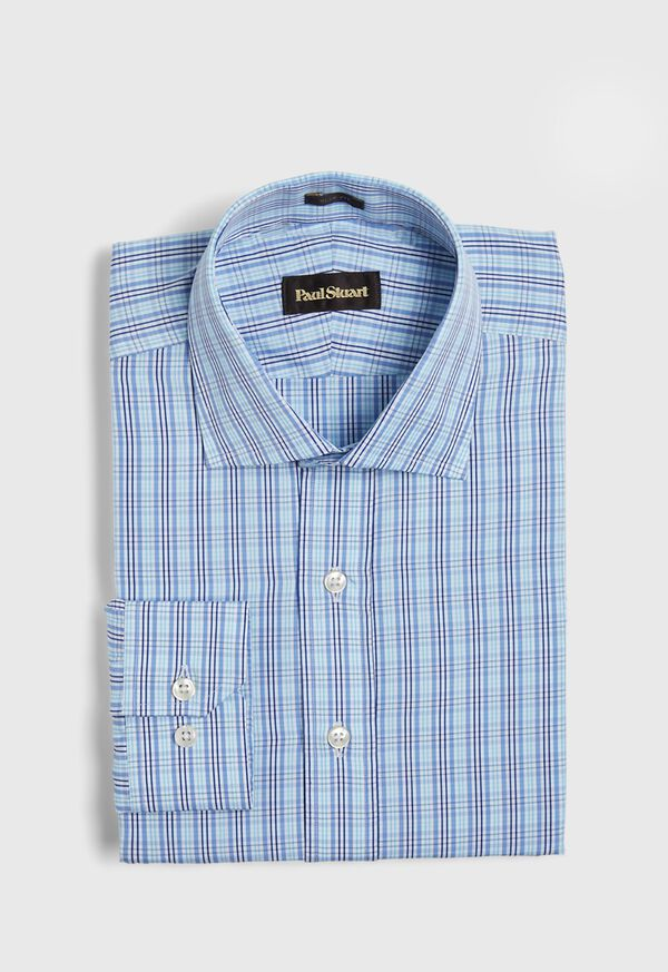 Slim Fit Plaid Dress Shirt, image 1