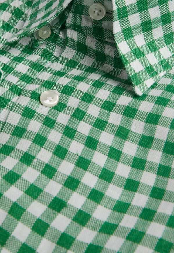 Linen Oxford Gingham Sport Shirt, image 2