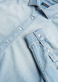 Washed Light Blue Denim Shirt, thumbnail 2