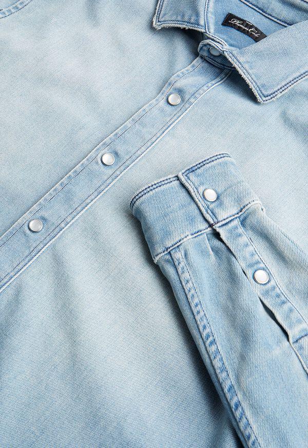 Washed Light Blue Denim Shirt, image 2