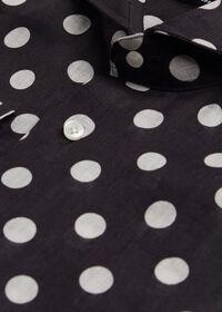Black and White Dot Linen Shirt, thumbnail 2