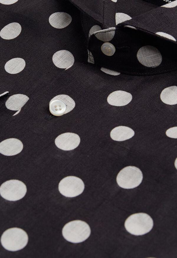 Black and White Dot Linen Shirt, image 2