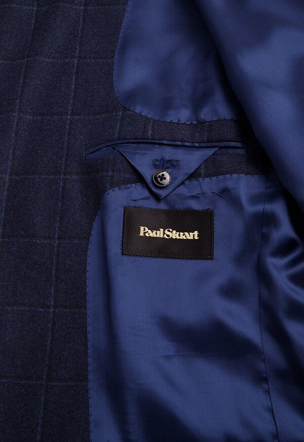 Windowpane Wool and Cashmere Blend Jacket, image 3